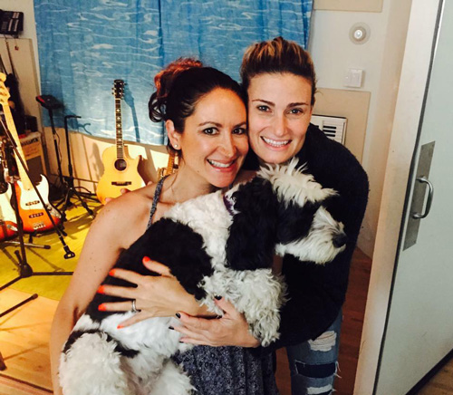 Dana Parish and Idina Menzel